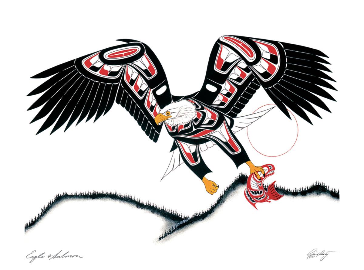 Eagle And Salmon 7970 Sa Cinn Native Enterprises