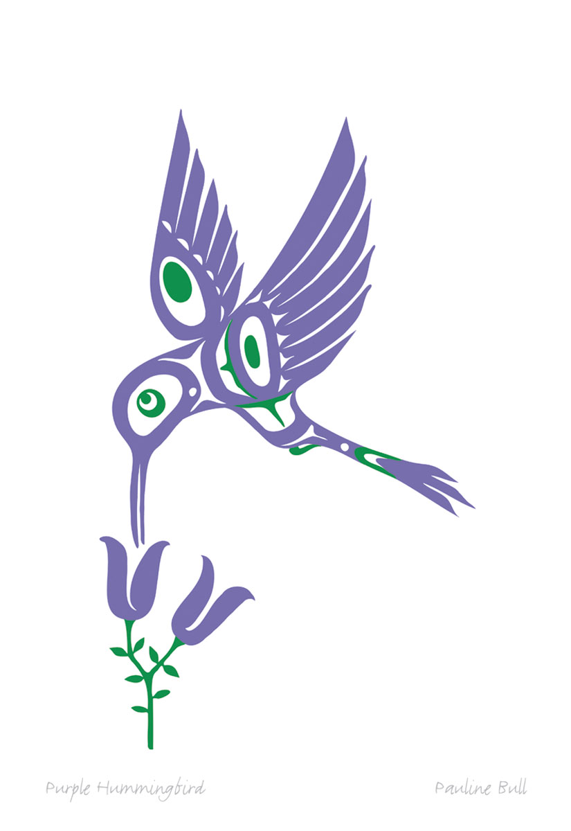 Purple Hummingbird Pod859 Sa Cinn Native Enterprises