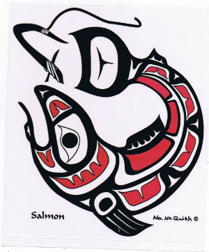 Salmon Decal Sa Cinn Native Enterprises